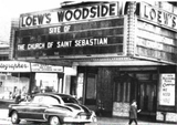 "<p>Back in the day – shortly after it closed as a theatre. This facade was demolished and a more ""churchy"" looking front was installed, complete with a bell tower.</p>"