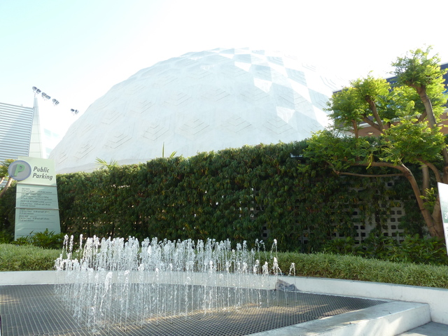 Cinerama Dome - Side View from Sunset Blvd.