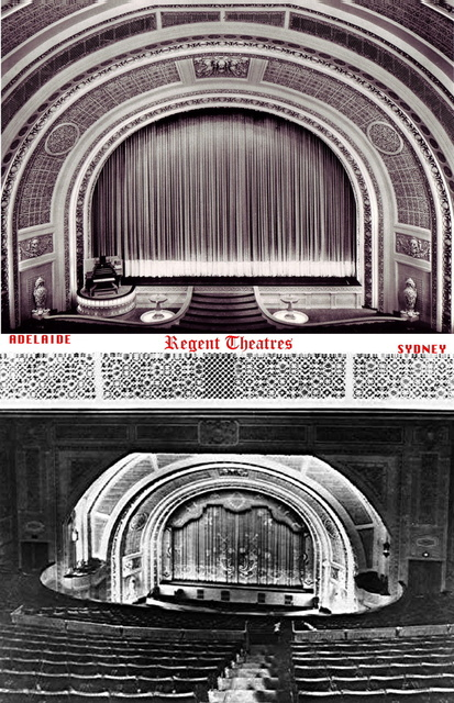 Comparison of original auditoria, Sydney and Adelaide.