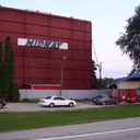 Midway Drive-In   restored screen tower