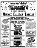 Midway Drive In original 1950 opening ad