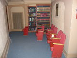 Rhode Former Balcony Level 1963 Seats & Stage Prop Bookcase Fronts.