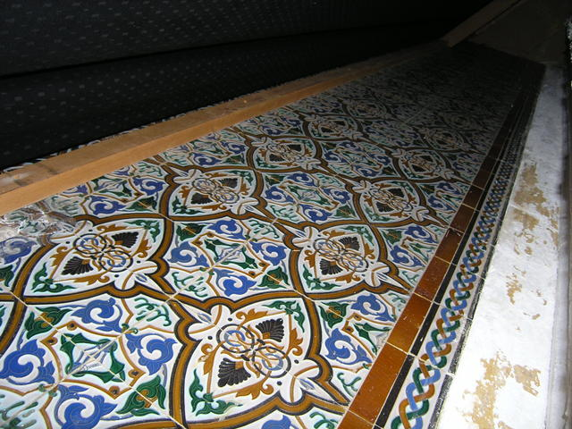 Rhode Original Tile Work, Currently Encapsulated Behind Side Wall Curtains