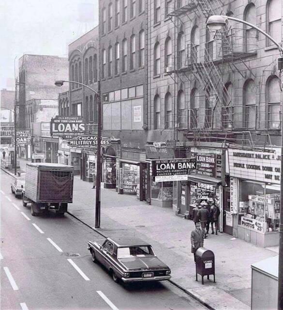 Follies marquee far left, circa 1963 photo credit David Carr.