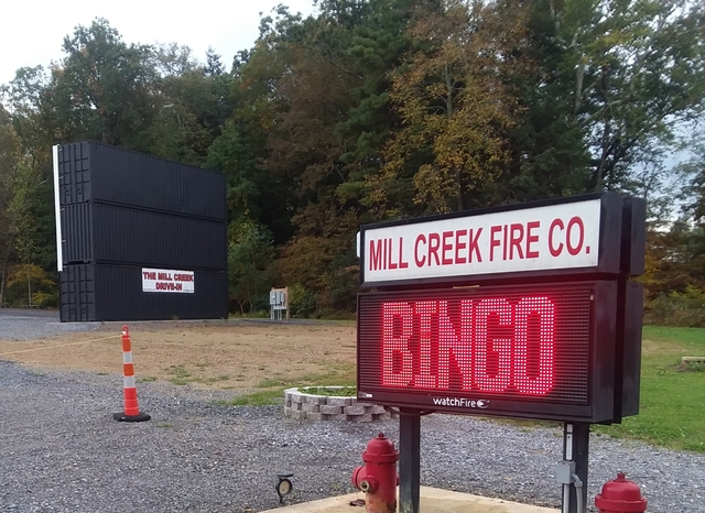Entrance to the Mill Creek Drive-in