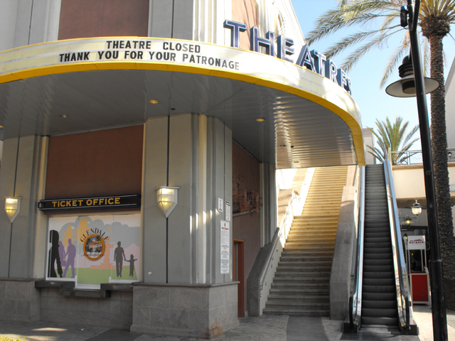 Box office of former Mann Glendale Marketplace Theatres