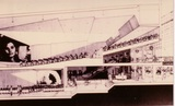 <p>08 – As one of the earliest cinemas built with 2 auditoriums, Abraham W. Geller, the architect, drew up this cut-away view in 1962 showing how he configured the two cinemas into a relatively small urban lot that was only 75' wide by 102' deep. The drawing was intended for architectural and movie exhibition trade publications.</p>