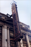 Warner Theatre Sign, December 1980