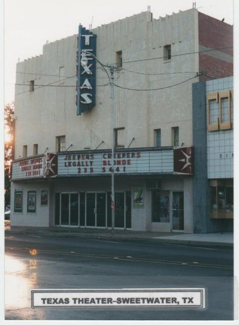 Texas Theater in Sweetwater  Tx  2001