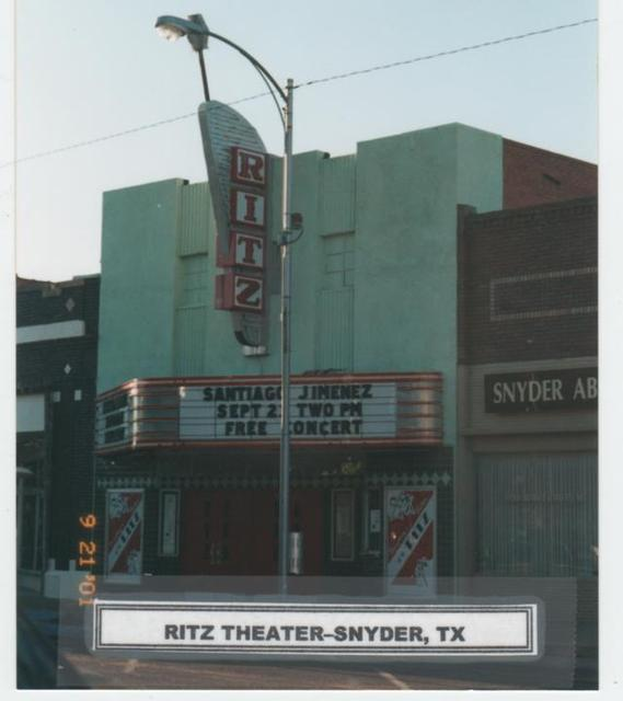 Ritz Theater in Snyder  Tx  2001