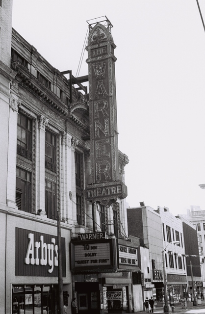 The Warner Sign and Marquee, April 1982, Quest For Fire