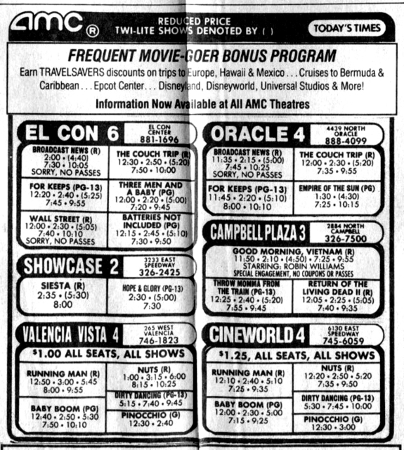 AMC Advert, January 17, 1988