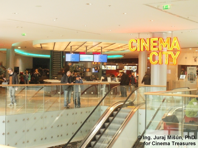 The box office of Cinema City Eurovea
