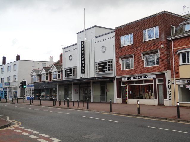 Former Moderne Cinema now called the Life Centre