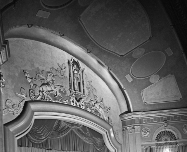 Sculptural frieze from the Carolina Theater proscenium.