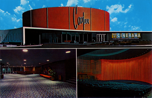 Cooper Cinerama, Denver, Postcard (ca. 1961)