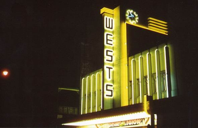 Wests Theatre – Façade at Night.