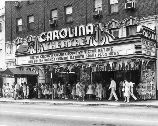 Marquee of the Carolina Theater, Winston-Salem NC 1950's