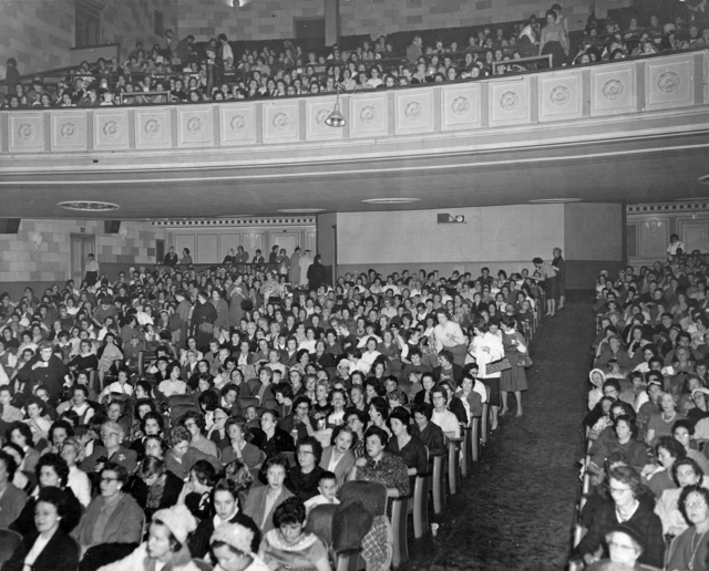 Orchestra seating and 1st balcony 1950's