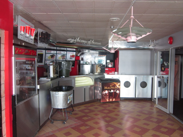 Concession stand and lobby