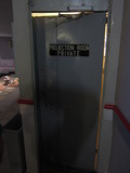 Projection booth door