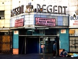 <p>The Regent hit bottom as a sleazy porn house on a rapidly deteriorating Skid Row in the 1980's.</p>
