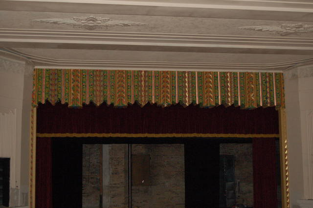 proscenium with new paint