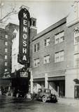 "KENOSHA Theatre, a few months after its opening. ""Surrender"" (1927) is listed on the marquee."