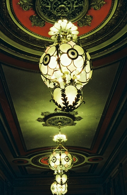Lights in the Warner Theatre Lobby