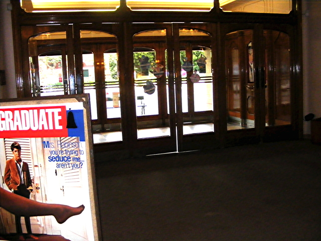 The Ticket Lobby and double sets of doors.