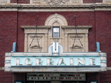 Lorraine Theatre, Hoopeston, IL - marquee