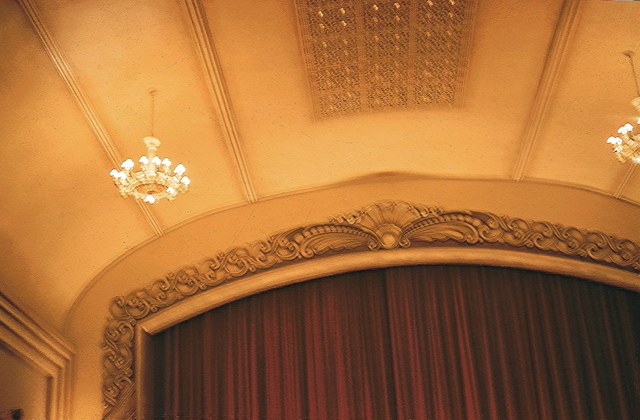 Detail of Proscenium and Ceiling.