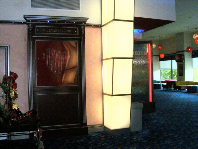 Entrance to the Boulevard Lounge.