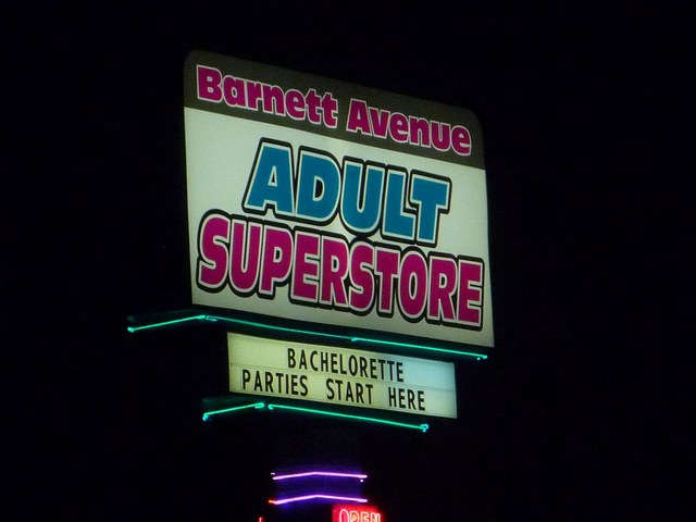 Barnett Adult Theater Sign