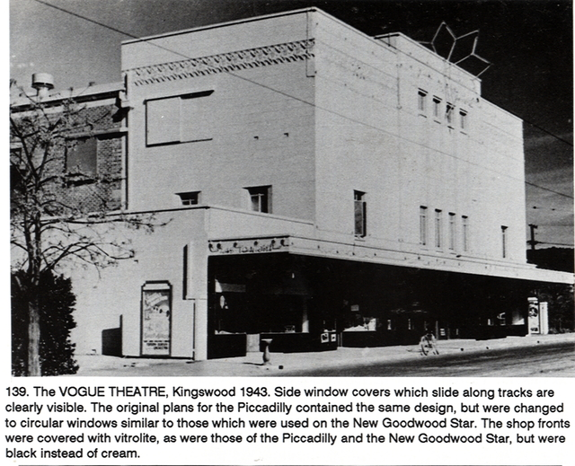 Exterior View, taken when the Vogue was an operating cinema.