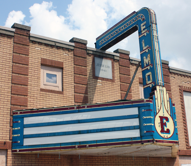 Elmo Theater, St. Elmo, IL - marquee