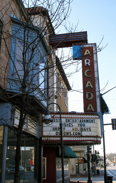 Arcada Theater, St. Charles, IL - marquee & vertical sign