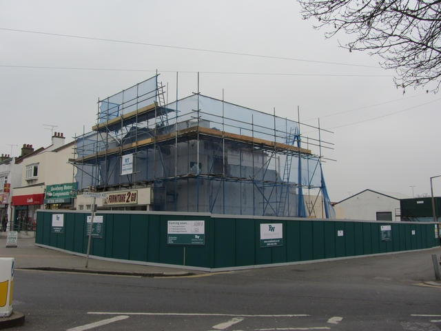 Demolition of Palace Cinema Shoeburyness. 18th March 2012