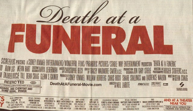 Death at a Funeras