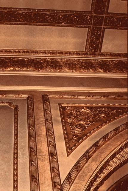 Detail of plaster decoration.