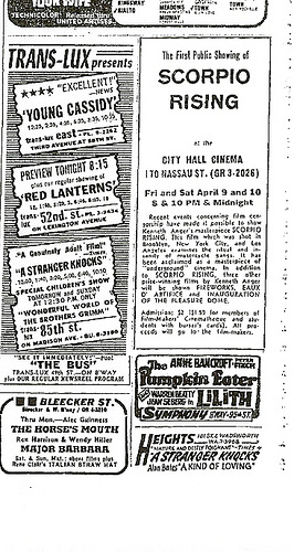 Tribune Movie Ad