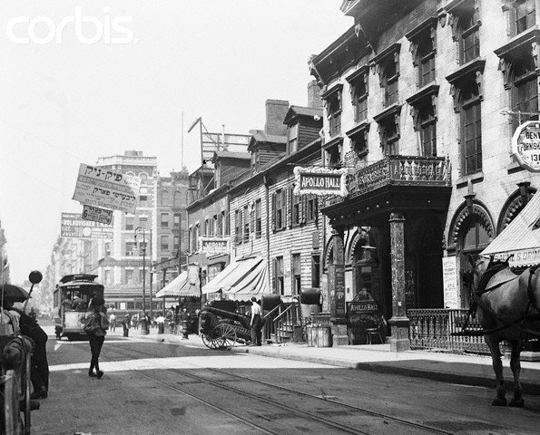 Apollo Hall on Clinton Street, circa1900