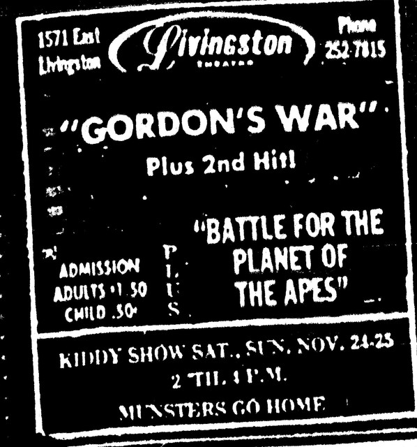 Gordon's War/Battle for the Planet of the Apes