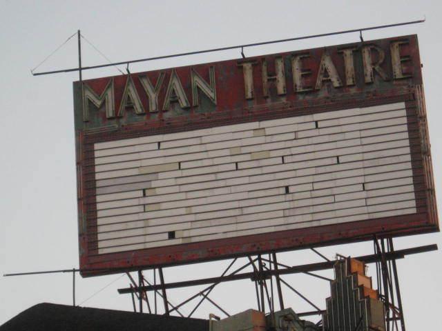 Mayan Advertising Sign
