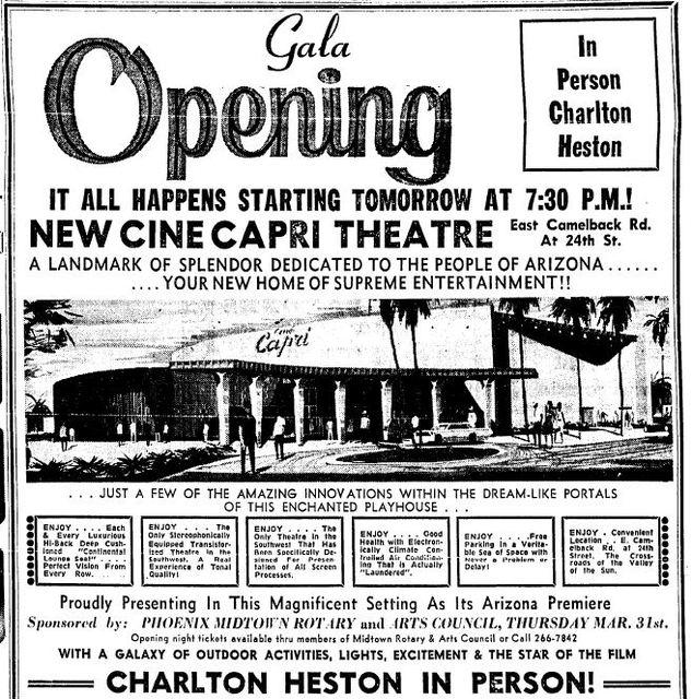 Cine Capri grand opening