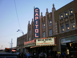 Capitol Theatre with marquee lit