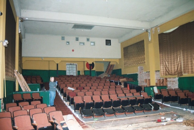 Auditorium interior looking towards projection booth