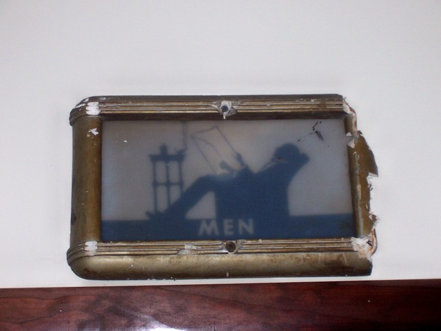 Grafton Manos restroom sign - men's