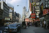 <p>Broadway looking north at 50th Street 1962,               Loew's Capitol, then called Loew's Cinerama.</p>