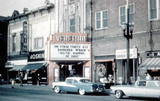 VENETIAN Theatre, Racine, Wisconsin early 1960. This view shows the second marquee.